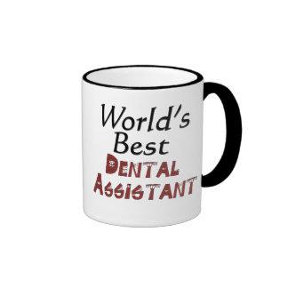 El mejor ayudante de dentista del mundo tazas de café