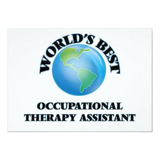 El mejor ayudante de la terapia profesional del invitación 12,7 x 17,8 cm
