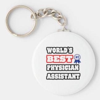 El mejor ayudante del médico del mundo llavero redondo tipo pin