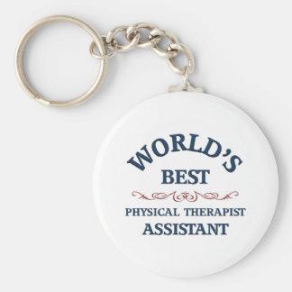 El mejor ayudante del terapeuta físico del mundo llaveros personalizados