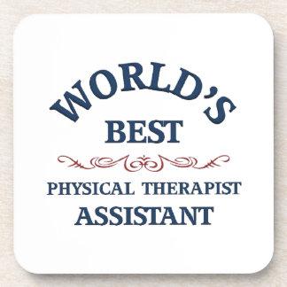 El mejor ayudante del terapeuta físico del mundo posavasos de bebidas