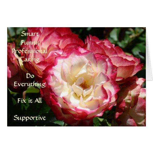 ¡El mejor ayudante! rosas rosados Smart de la tarj
