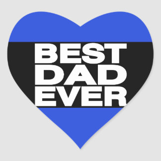 El mejor azul de LG del papá nunca Calcomanías De Corazones Personalizadas