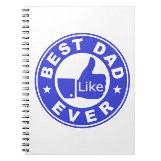 El mejor azul del papá nunca - libro de apuntes con espiral