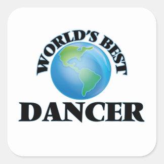 El mejor bailarín del mundo pegatina cuadrada