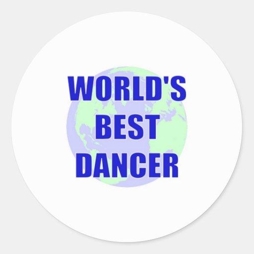El mejor bailarín del mundo pegatina redonda