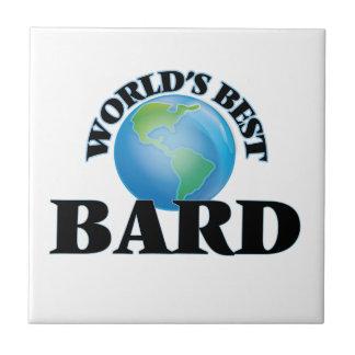 El mejor bardo del mundo azulejo cuadrado pequeño