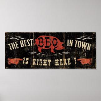 El mejor Bbq de la ciudad Póster