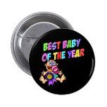 El mejor bebé del botón del año pin