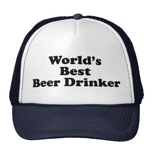 El mejor bebedor de la cerveza del mundo gorros bordados