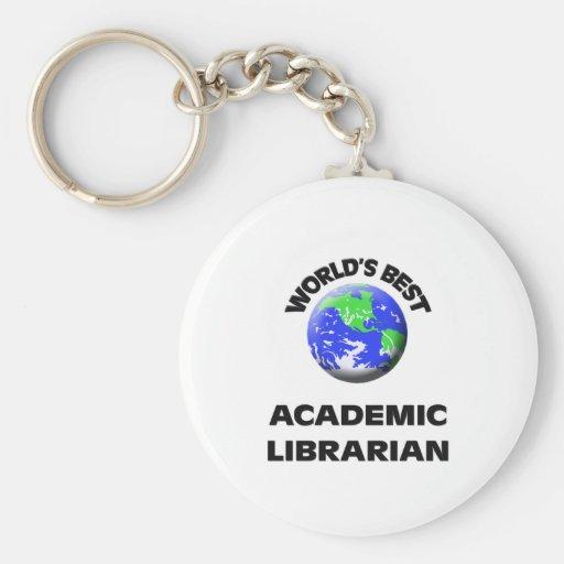 El mejor bibliotecario académico del mundo llaveros