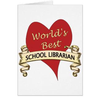 El mejor bibliotecario de la escuela del mundo tarjeta