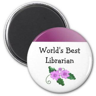 El mejor bibliotecario del mundo imán redondo 5 cm