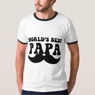 el mejor bigote de la papá del mundo playera