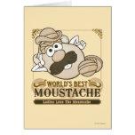 El mejor bigote del mundo tarjeta de felicitación