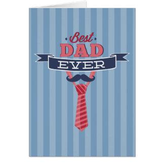 El mejor bigote del papá nunca y rayas azules del tarjeta de felicitación