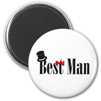 El mejor boda del hombre imán redondo 5 cm