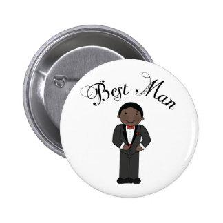 El mejor boda (negro) del hombre pin