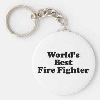 El mejor bombero del mundo llavero