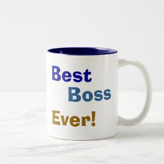 ¡El mejor, Boss, nunca! Taza Dos Tonos