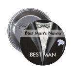 El mejor botón de la etiqueta del nombre del hombr pin