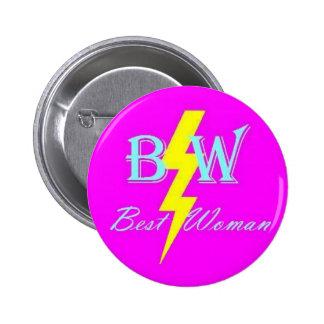 El mejor botón de la mujer pin redondo de 2 pulgadas