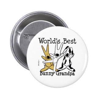 El mejor botón del abuelo del conejito del mundo pin