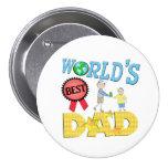 El mejor botón del día de padre del papá pin