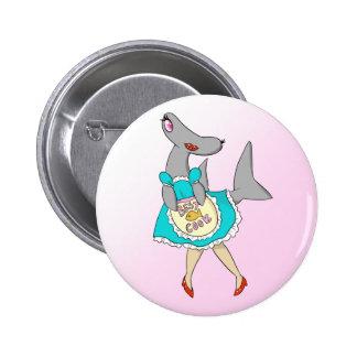 El mejor botón del Hammerhead del cocinero Pin Redondo De 2 Pulgadas