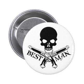 El mejor botón del hombre del pirata pins