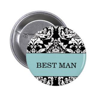 El mejor botón del hombre pin redondo de 2 pulgadas