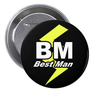 El mejor botón del hombre pin redondo de 3 pulgadas