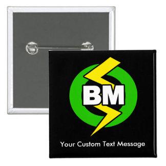 El mejor botón del hombre, texto de encargo pin
