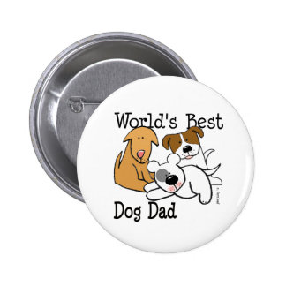 El mejor botón del papá del perro del mundo pin
