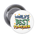 El mejor botón del profesor del mundo pin