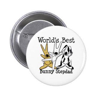 El mejor botón del Stepdad del conejito del mundo Pin