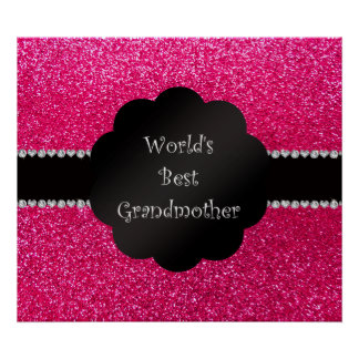 El mejor brillo del rosa de la abuela del mundo póster