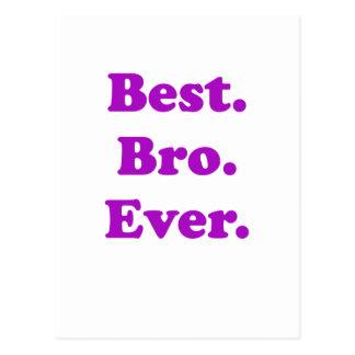 El mejor Bro nunca Tarjetas Postales