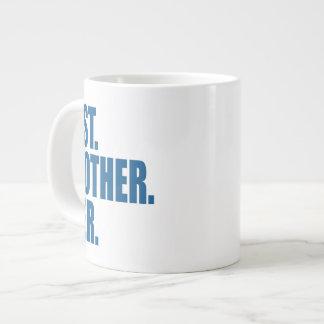 El mejor. Brother. Nunca. (azul) Tazas Jumbo