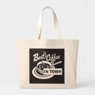 El mejor café en ciudad bolsas lienzo