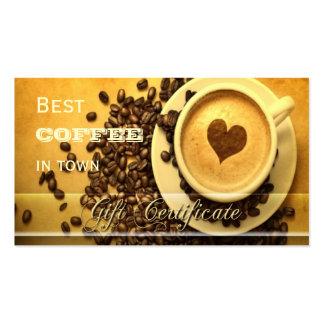 El mejor café en plantilla del vale de la ciudad plantillas de tarjeta de negocio