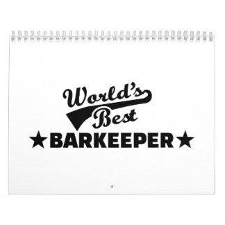 El mejor camarero del barkeeper del mundo calendario de pared