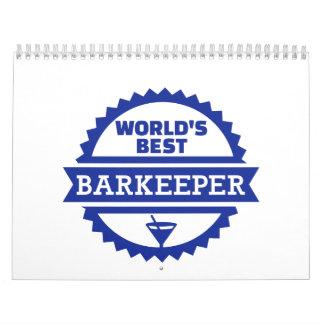 El mejor camarero del barkeeper del mundo calendarios de pared