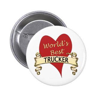El mejor camionero del mundo pin redondo 5 cm