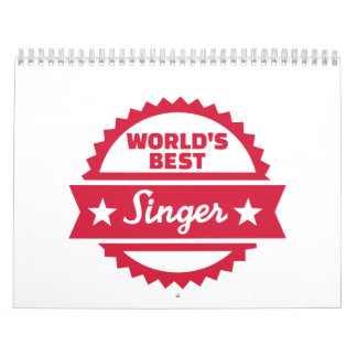 El mejor cantante del mundo calendario de pared