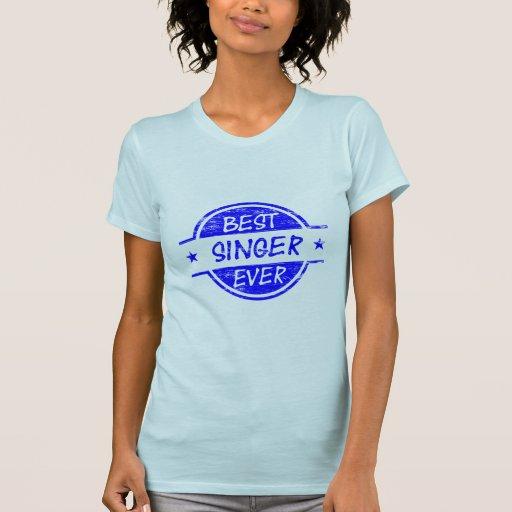 El mejor cantante siempre azul camiseta