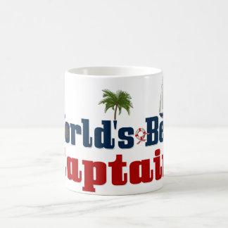 El mejor capitán de los mundos taza de café