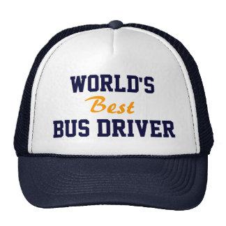 El mejor casquillo del conductor del autobús del m gorras