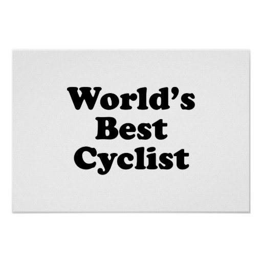 El mejor ciclista del mundo póster