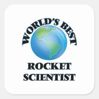 El mejor científico de Rocket del mundo Pegatina Cuadrada